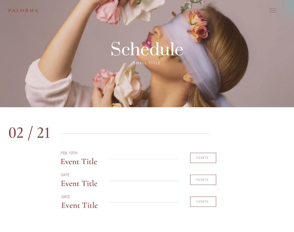 Schedule-Rose – Palorma